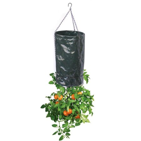 Upside Down 11 In Dia Black Polyethylene Fabric Tomato Planter 3