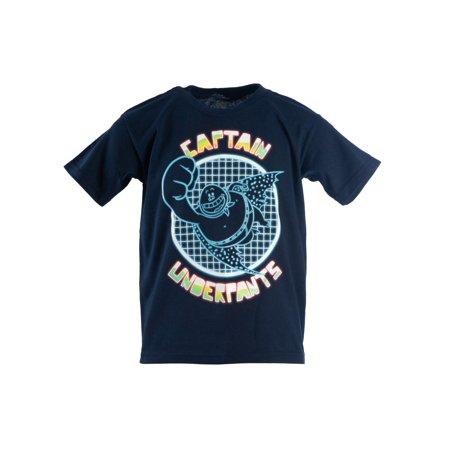 Captain Underpants Glow In The Dark Short Sleeve Graphic Tee (Little Boys & Big Boys) (Glow In The Dark Leotard)