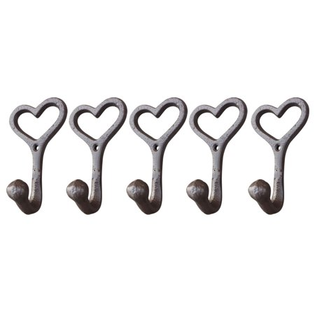 Love Style Cast Iron Wall Coat Hooks Hat Hook Hall Tree 4 1/2