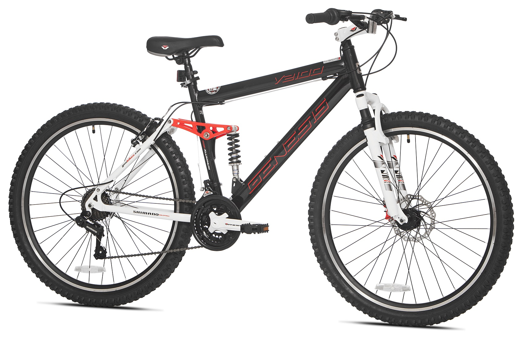 27 5 mens mountain bike black genesis bicycle 21 speed. Black Bedroom Furniture Sets. Home Design Ideas