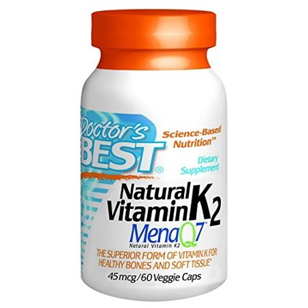 Doctor's BEST Natural Vitamin K2 MenaQ7 45mcg Veggie Caps - 60 CT