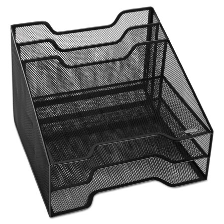 Rolodex Combination Sorter, Five Sections, Mesh, 12 1/2 x 11 1/2 x 9 1/2, Black