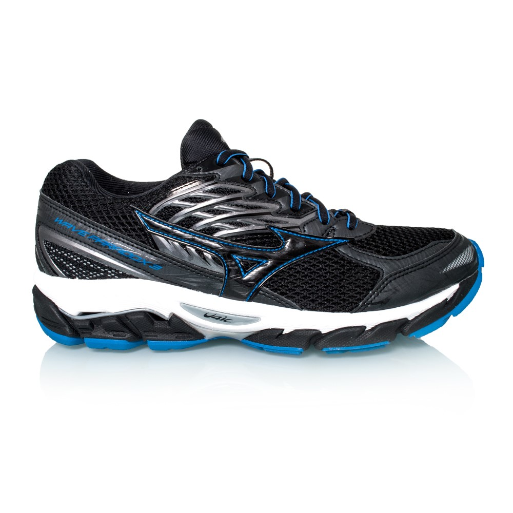 Mizuno Mens Wave Paradox 3 Running Shoes Black/Blue Size 8.5