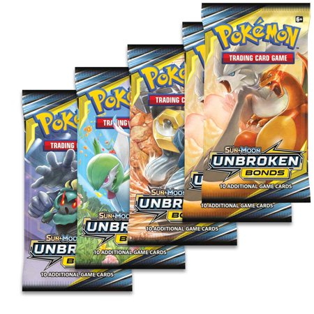 POKEMON Sun and Moon 10 Unbroken Bonds Blister 5 pack bundle- TCG Pokemon Trading (Pokemon Tcg Sun And Moon Release Date)
