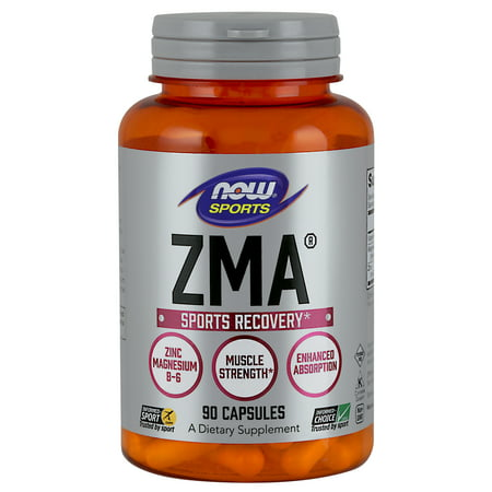 Cherry Zinc Vitamins - NOW Sports Nutrition, ZMA (Zinc, Magnesium and Vitamin B-6), 90 Capsules