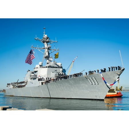 Canvas Print The guided-missile destroyer USS Spruance (DDG 111) arrives at Naval Base San Diego after completing Stretched Canvas 10 x 14 (Spruance Destroyer)