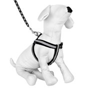 CUECUEPET Braided Choke Free Reflective Dog Harness and Leash for Daytime and Evening Walking