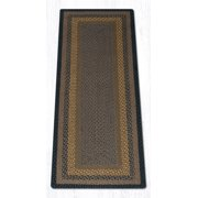 Earth Rugs C-99 Brown / Black / Charcoal Oval Braided Rug 8 Feet x 11 Feet