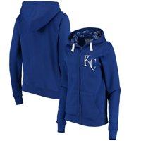 Kansas City Royals Soft as a Grape Women's Line Drive Full-Zip Hoodie - Royal