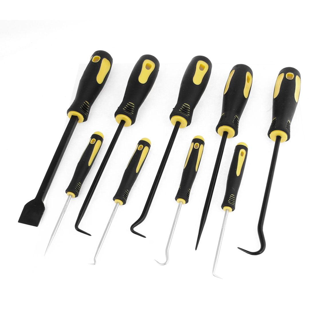 Black Handle Hook Picks Scraper Trim Removal Repairing Tool 9 in 1 Set