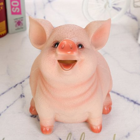 (Toponeto) P iggy Bank Resin Craft Coin Bank Money Pig Shaped Box Gifts Toy Box For Kids ()