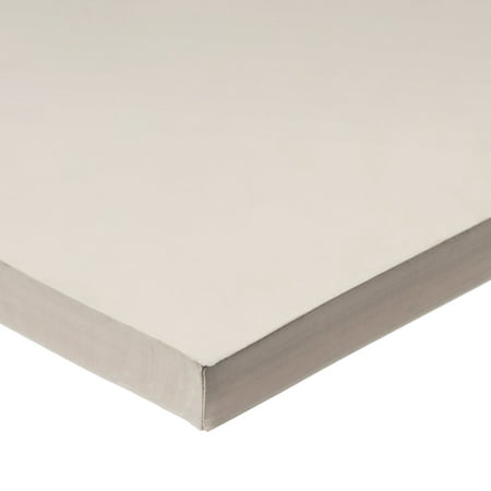 White FDA Silicone Rubber Sheet No Adhesive 60A 3 8 Thick x 36 Wide x