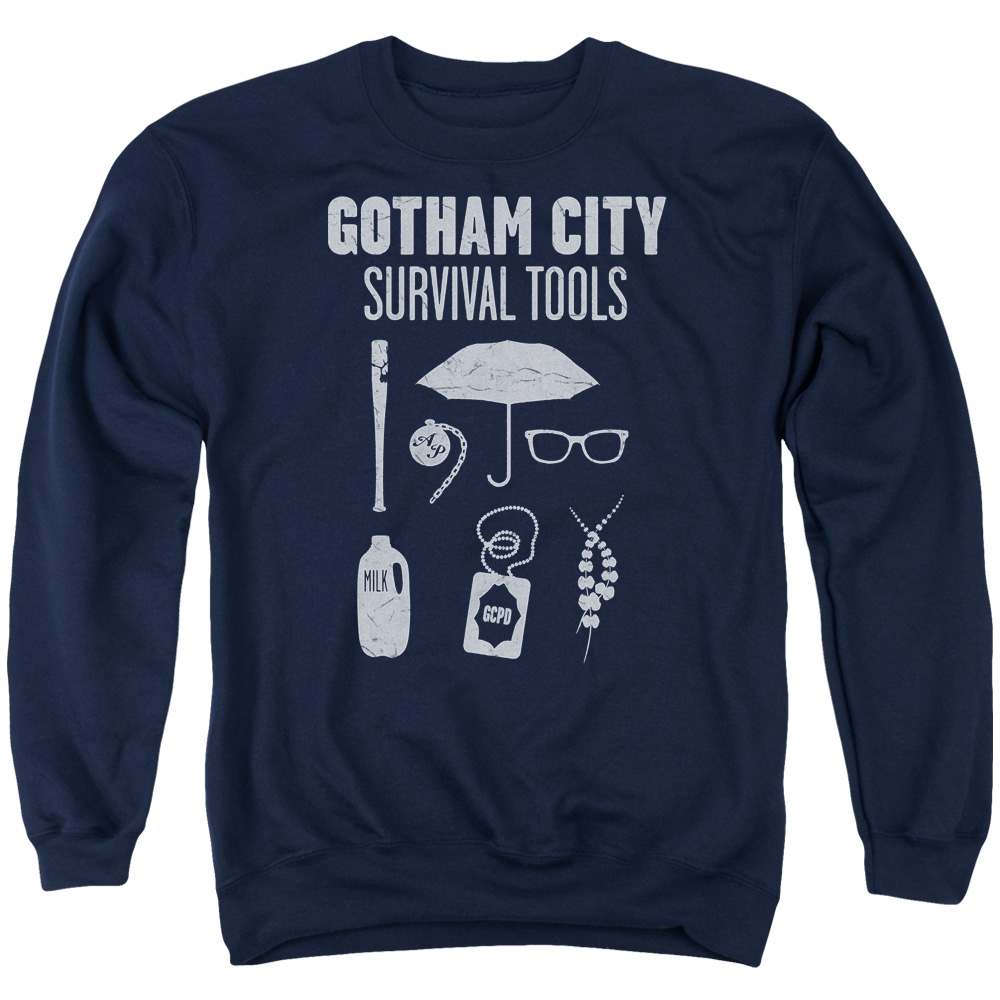 Batman Gotham Survival Tools Mens Crew Neck Sweatshirt