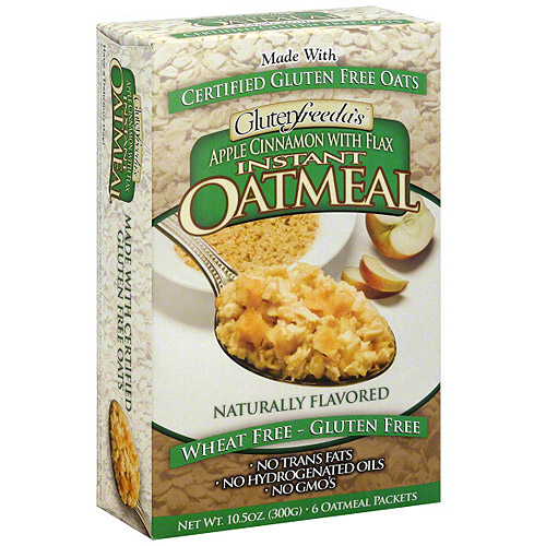Glutenfreeda Apple Cinnamon Instant Oatmeal With Flax, 10.5 oz, 6ct (Pack of 8)