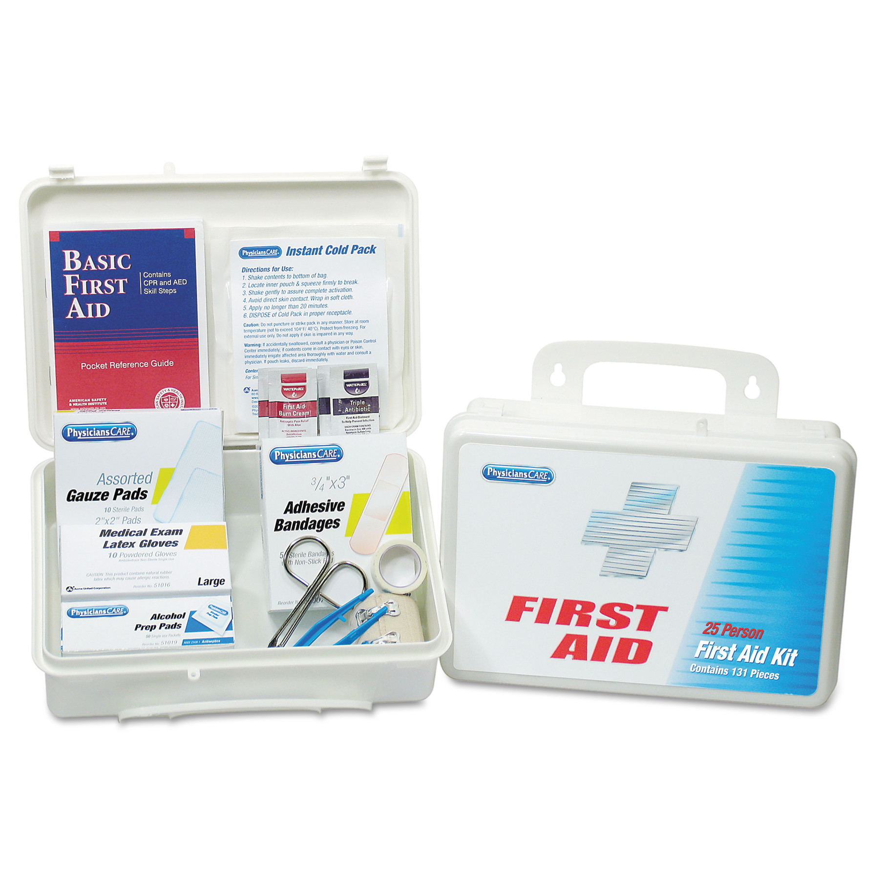PhysiciansCare by First Aid Only Office First Aid Kit, for Up to 25 People, 131 Pieces Kit by ACME UNITED CORPORATION