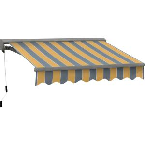 16FT C SERIES SEMI-CASSETTE MANUAL RETRACTABLE AWNING 10FT PROJ