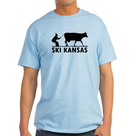CafePress - Ski Kansas - Light T-Shirt - CP (Ski Tshirts Men)