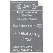 AlaBoard Grey Dry Erase Peel and Stick Message Decal