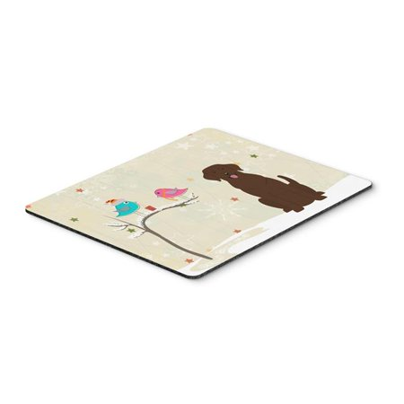 Christmas Presents Between Friends Chocolate Labrador Mouse Pad, Hot Pad or Trivet - image 1 of 1