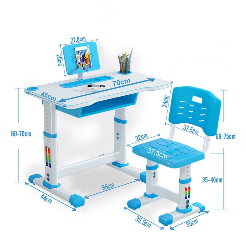Yaoping Kids Desk And Chair Set Height, Children's Patio Furniture