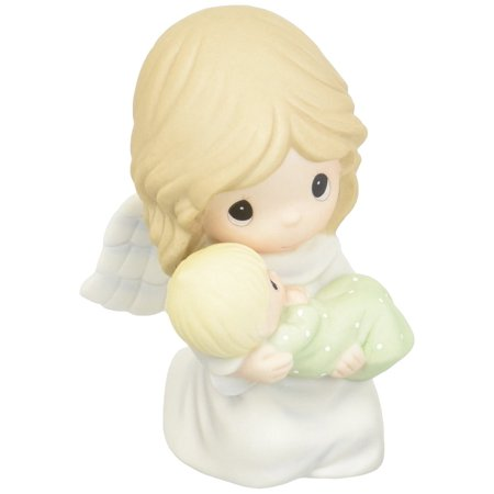 152007 Safe In The Arms of An Angel, Bisque Porcelain Figurine, An angel holds a precious child whose soul is safely embraced in her loving arms By Precious Moments Ship from US ()