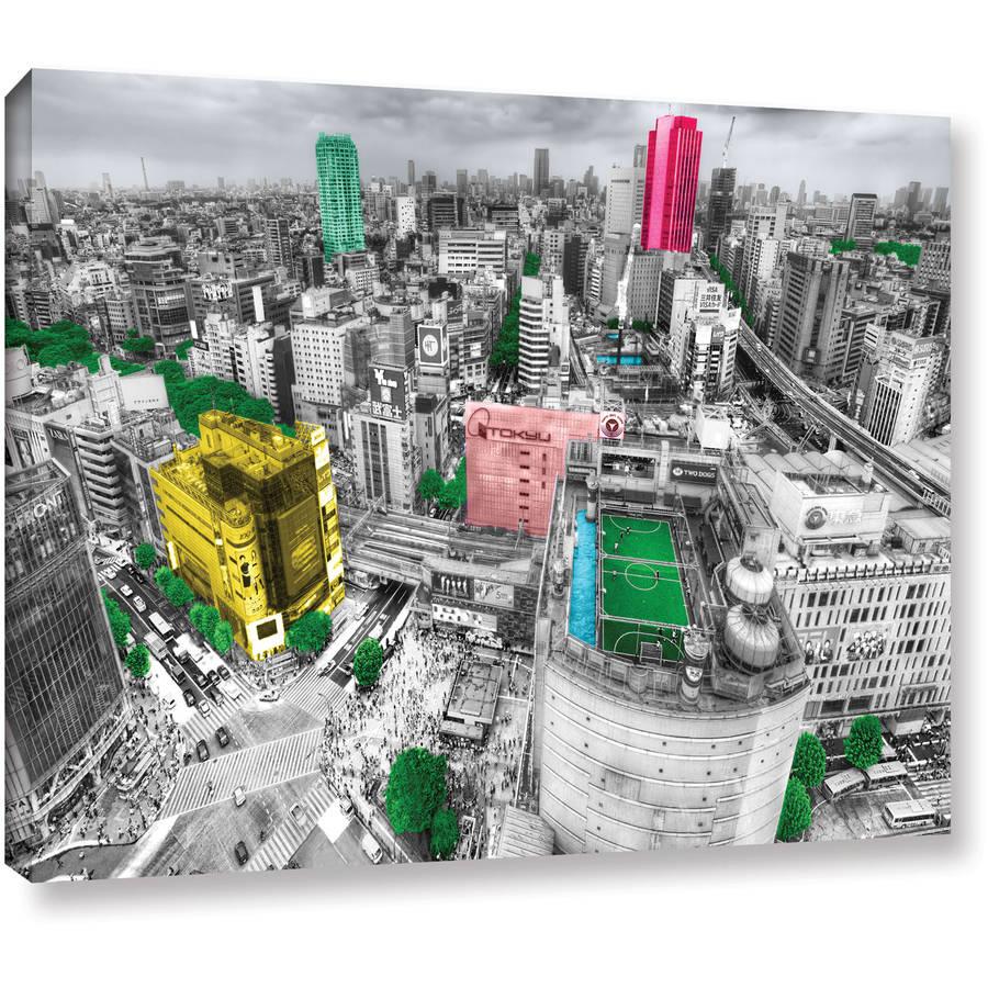 "ArtWall Revolver Ocelot ""Tokoyo Skyline"" Gallery-Wrapped Canvas"
