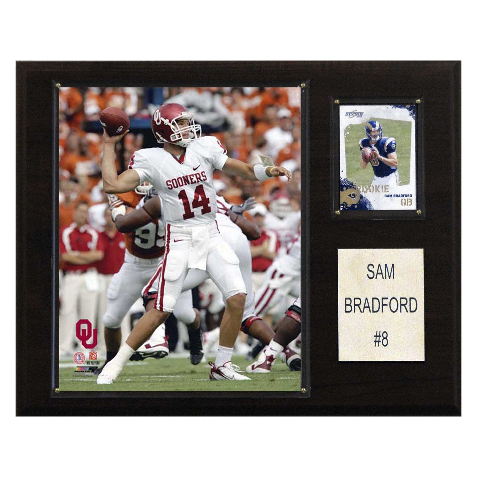 C&I Collectables NCAA Football 12x15 Sam Bradford Oklahoma Sooners Player Plaque