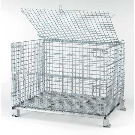Nashville Wire 4000 lb Capacity, Collapsible Bulk Container, Silver C404830S4L for $<!---->