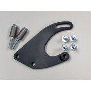 Borgeson 802412 Power Steering Pump Bracket; Painted Black Steel; Saginaw Style P/S Pump To Mopar 318/340/360; Incl. Hardware;