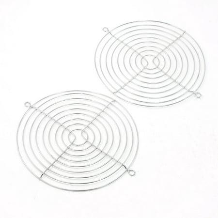 150mm x 170mm Industrial Cabinet Cooling Fan Guard Metal Protective Grill 2Pcs - image 1 de 1