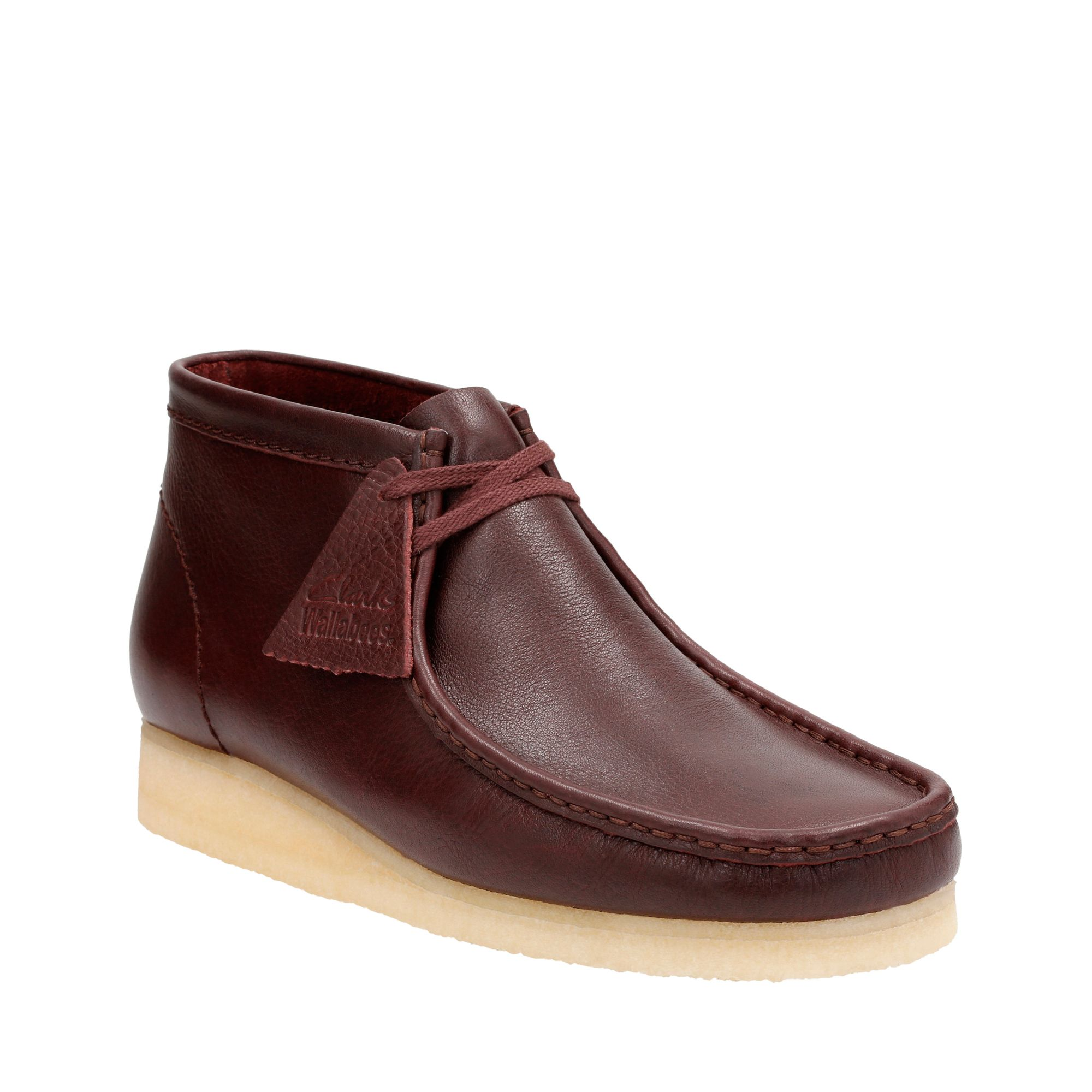 Clarks Wallabee Men's Boots Burgundy Tumbled/Burgundy Tumbled 26125541