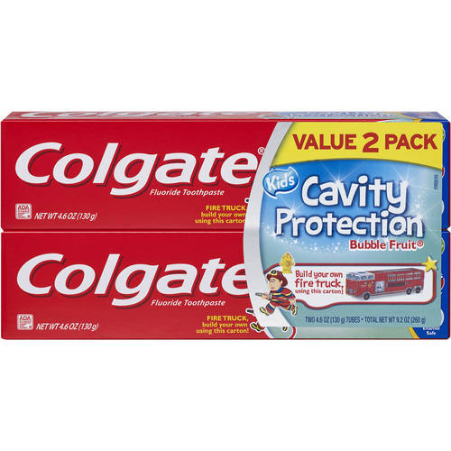 Colgate Kids Bubble Fruit Cavity Protection Toothpaste, 4.6 oz, (Pack of 2)