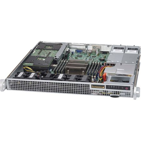 Supermicro SuperChassis CSE-514-R400W 400W 1U Rackmount Server Chassis  (Black)