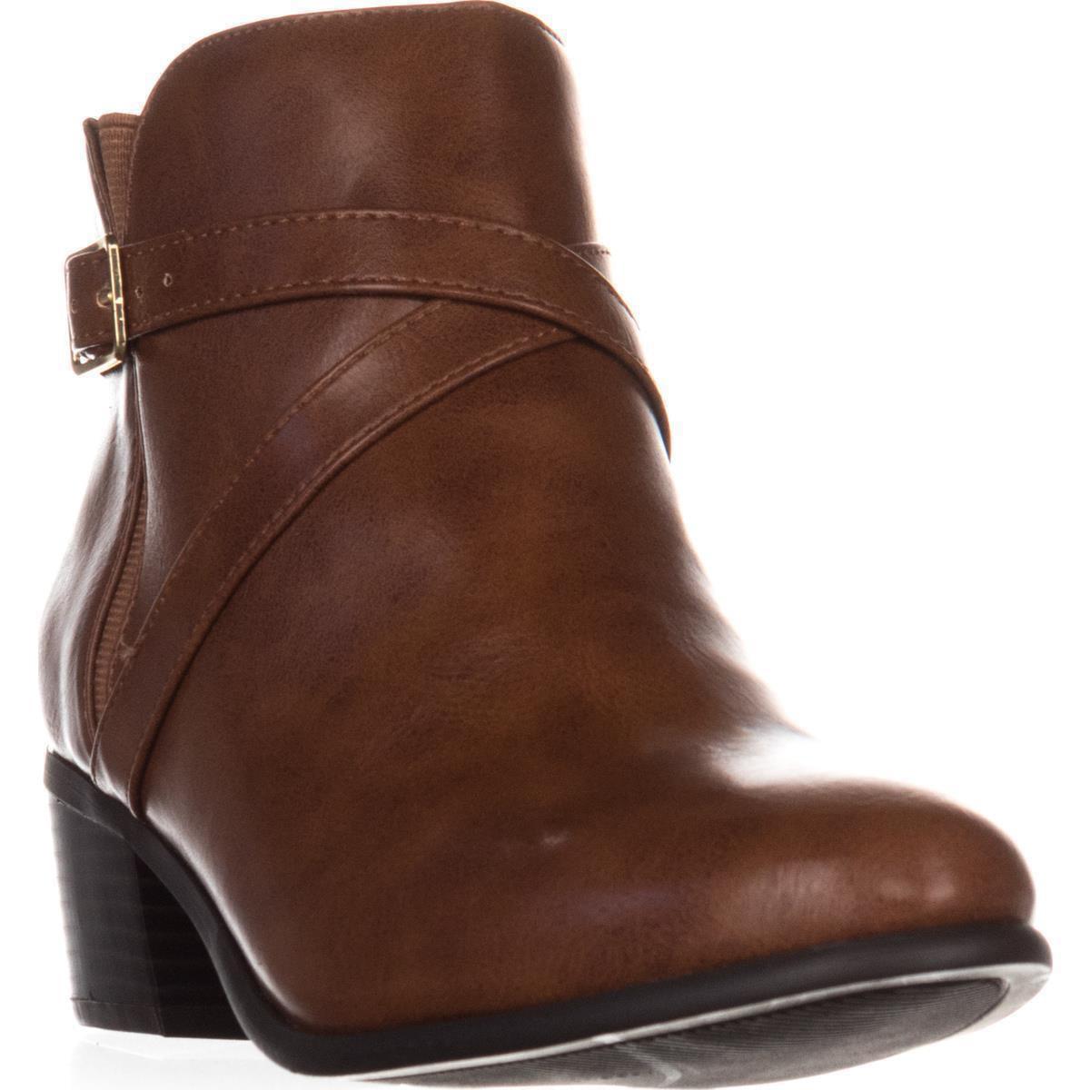 Womens KS35 Falonn Ankle Boots, Cognac