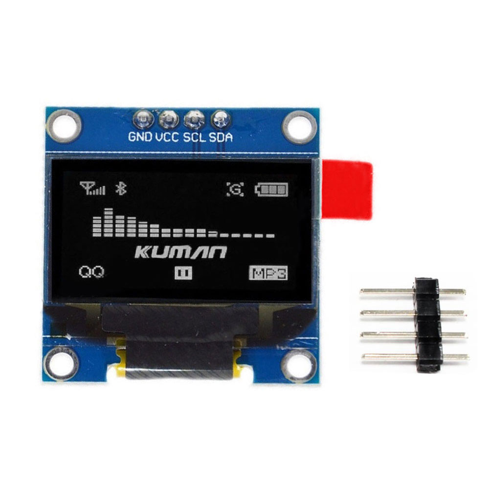 "0.96"" I2C IIC SPI Serial 128*64 Oled LCD LED White Display Module for Arduino 51 Msp420 Stim32 SCR"