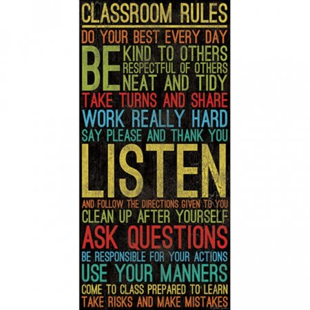 Classroom Rules Poster Print by Dee Dee (9 x 18)](Classroom Posters)