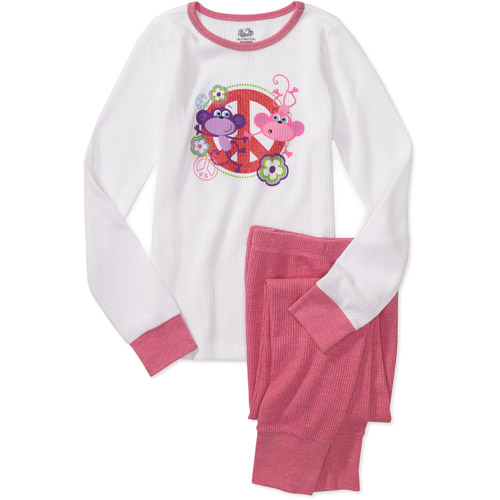 Fruit of the Loom - Girls' Thermal Underwear Set