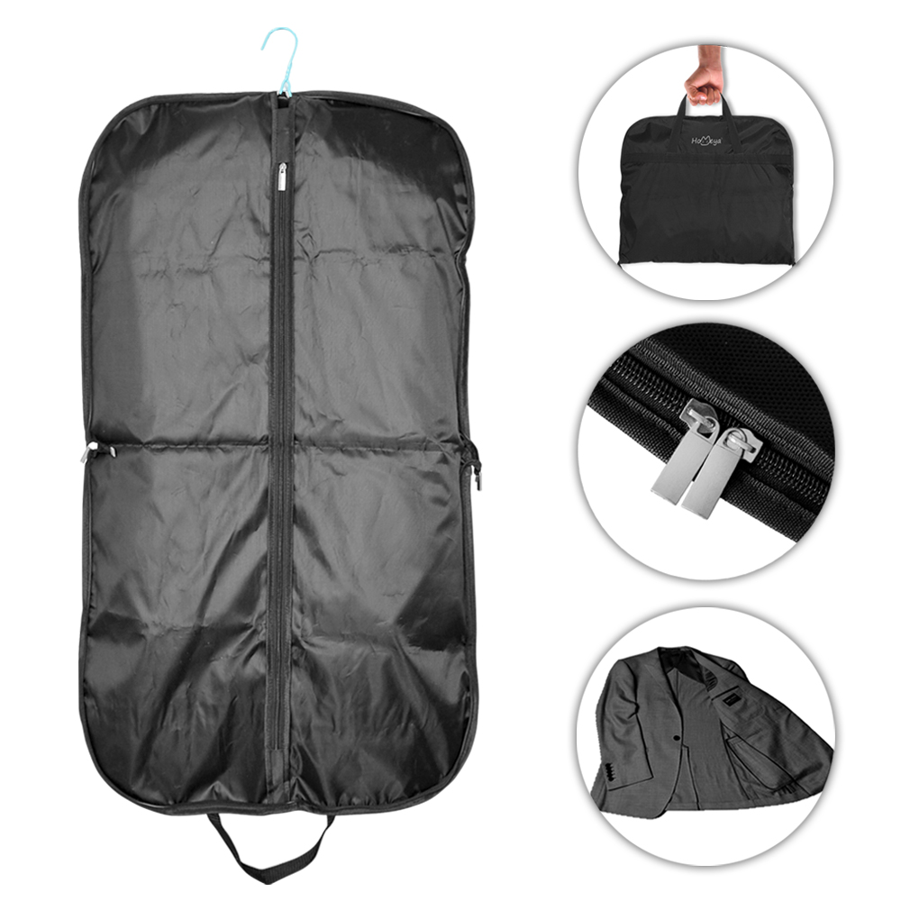 Garment Cover for Suits Travel Carrier Bag Black Cover,iClover Waterproof Hanging Breathable Garment Storage Handbag Covers Anti-moth Protector Oxford Fabric Bag with Zipper (51.2'' x 23.6'')