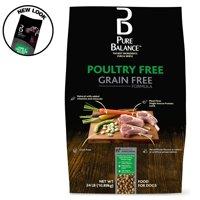 Pure Balance Grain-Free Poultry Free Lamb & Fava Bean Recipe Dry Dog Food, 24 lb