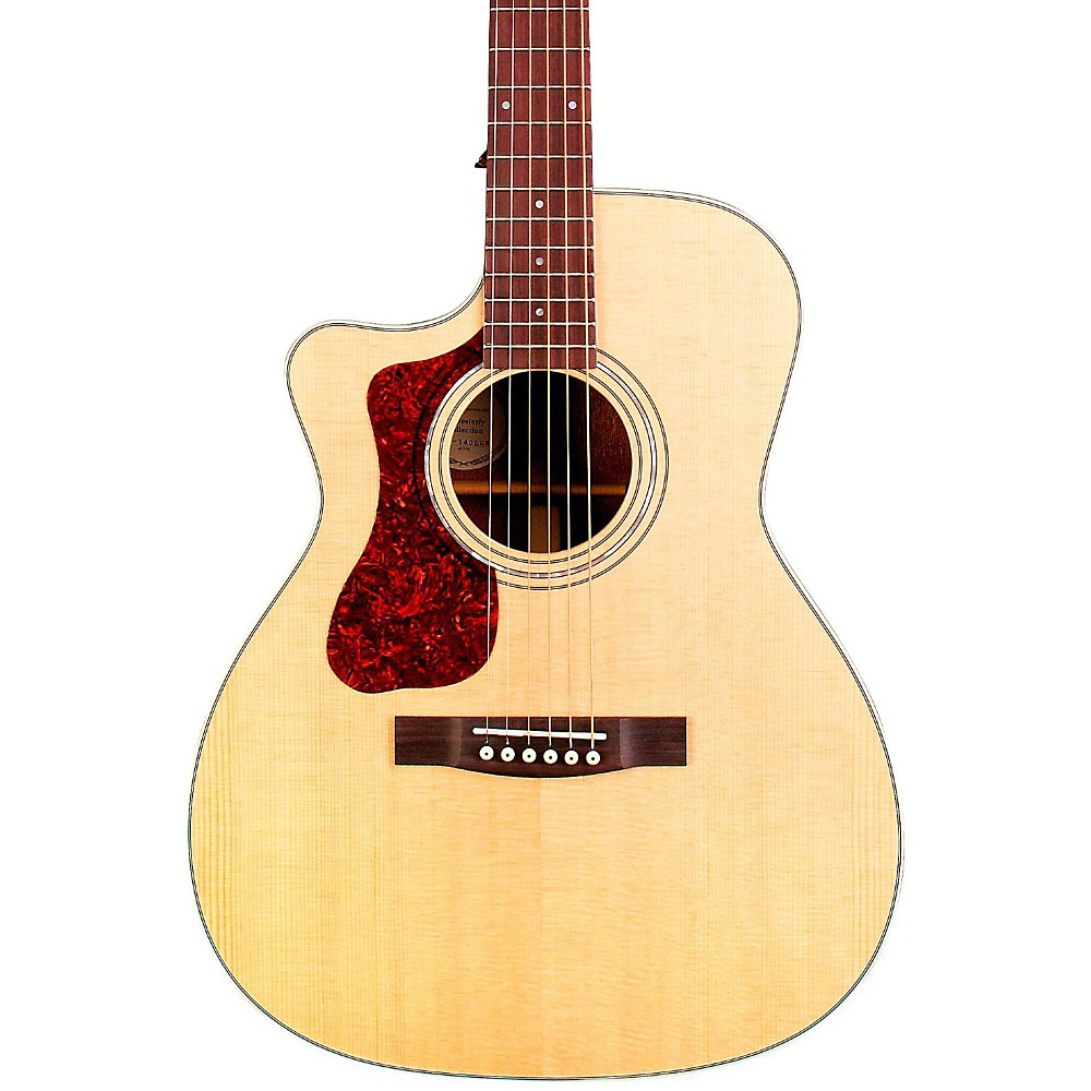 Guild OM-140LCE Orchestra Left-Handed Acoustic-Electric Guitar Natural
