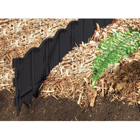 Border Master Poundable, 20' Black with 3 - Flower Garden Border