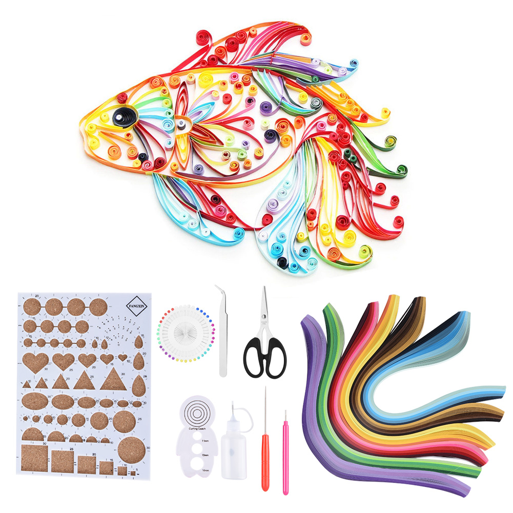 Bicaquu Quilling Guide Blue 2 Colors Roll Grid Guide Tool Making Paper Strips for Paper Craft Craft DIY