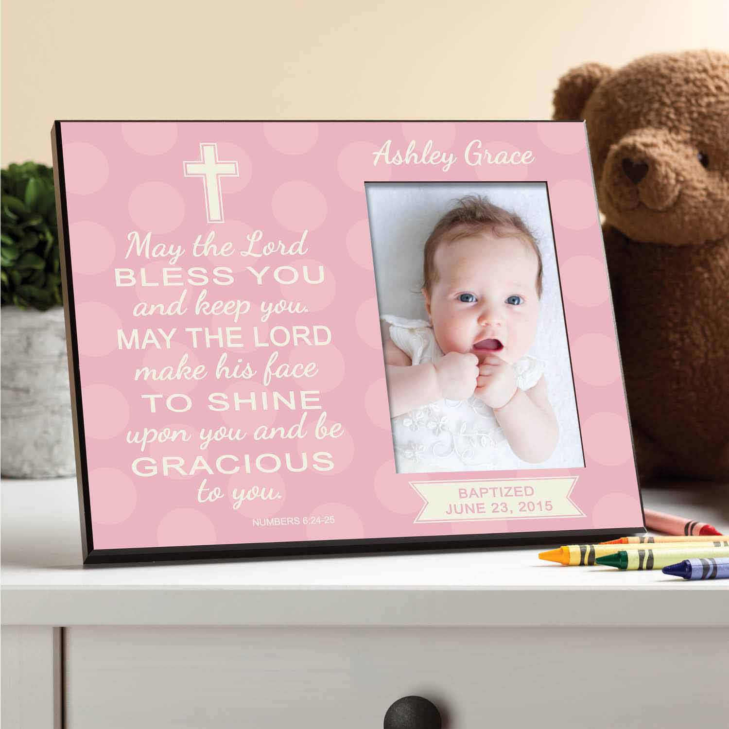Personalized May The Lord Bless You Frame, Girl