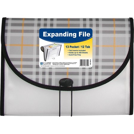 C-Line, CLI58312, 13-pocket Expanding File, 1 Each