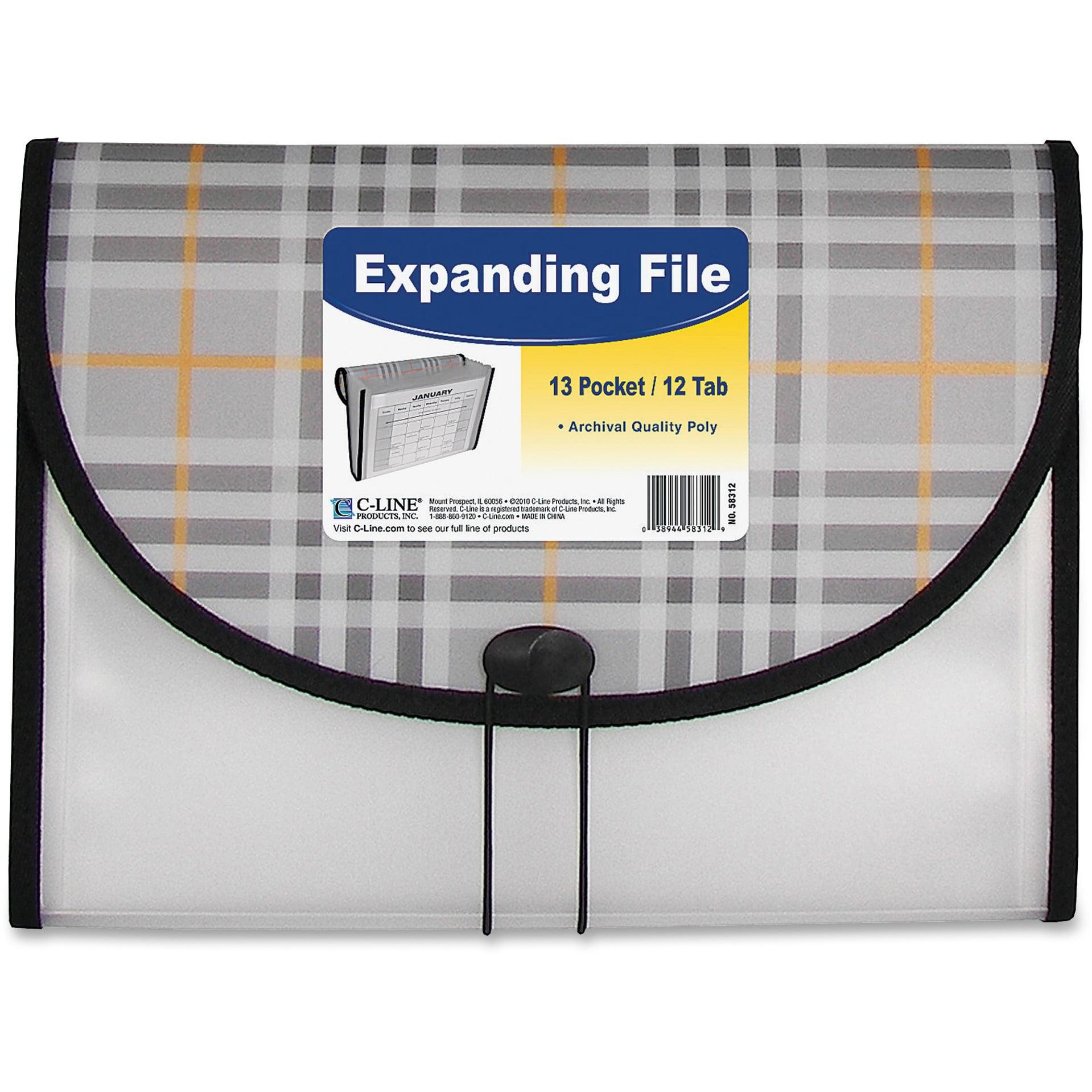 C-Line, CLI58312, 13-pocket Expanding File, 1 Each