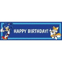 Sonic the Hedgehog Birthday Banner, Standard