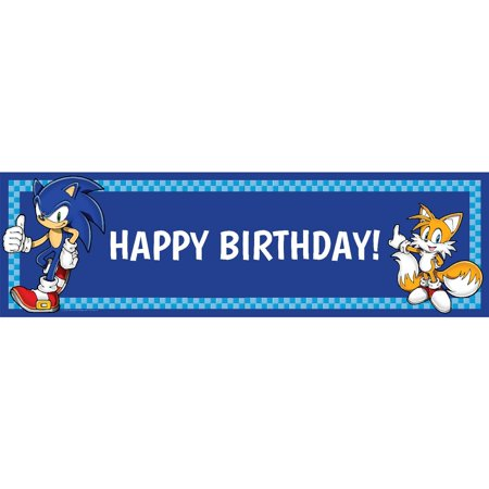 Sonic the Hedgehog Birthday Banner, Standard