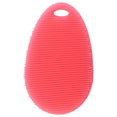 2Pcs Antibacterial Soft Silicone Dish Scrubber Washing Cleaning Brush Plate Bowl Scrubber Fruit Vegetable Cleaner Heat Resistant Sponge Pad Multifunctional Kitchen - Soft Grip Sponge