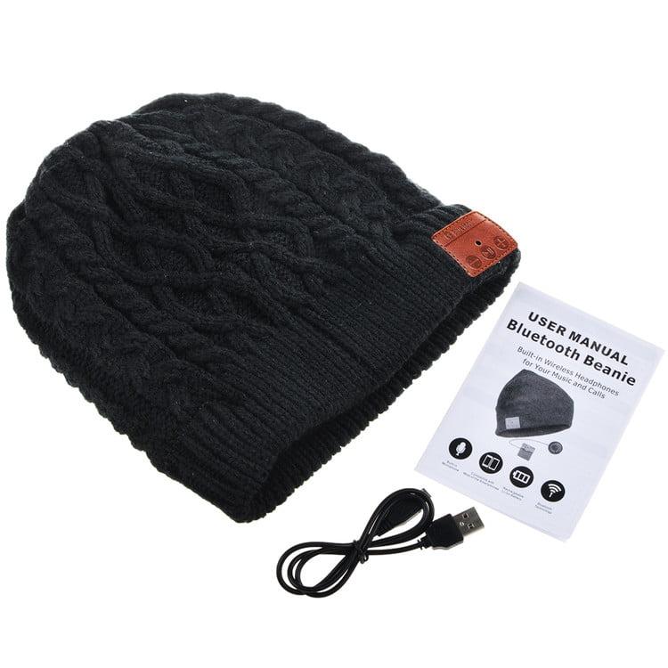 Bluetooth Sport Capuchon 145364 Casquette Avec Intégré Casque Noir