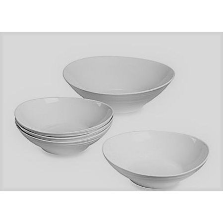 Mikasa Swirl 5-Piece Pasta Set in White